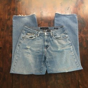 Calvin Klein Distressed Jeans Boot Cut, Size 8